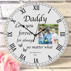Love You Forever Photo Clock Always And Forever, Always Be, Personalized Clocks, Photo Clock, Wow Factor, Photo Quality, Wow Products, What Is Love, Your Design