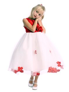 Fuschia And White Round Neck Organza, Satin Flower Girl Dresses Of Poofy Pretty Flower Girl Dresses, Little Girl Dresses, Flower Dresses, Cute Dresses, Flower Girls, Flower Tea, Pregnant Wedding Dress, Wedding Party Dresses, Evening Gowns