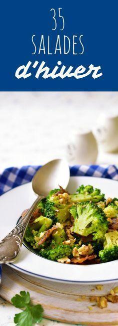 Aux brocolis, au chou, aux endives : 35 recettes de salades d'hiver ! Batch Cooking, Healthy Cooking, Healthy Eating, Cooking Recipes, Top Recipes, Veggie Recipes, Vegetarian Recipes, Healthy Recipes, Salty Foods