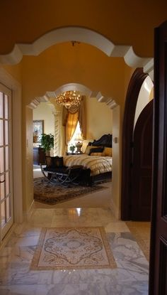 Beautiful entry in to a beautiful bedroom.