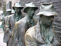 Great Depression Bread Line. One of many fabulous sculptures at the wonderful FDR memorial in DC.