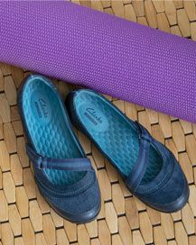 Clarks mary-janes are great to slip on for yoga class Earth Shoes, Special Deals, Best Yoga, Flat Shoes, Clarks, Mary Janes, Footwear, Slip On, Fashion Outfits