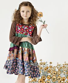 Matilda Jane Clothing ~ Paint By Numbers ~ CACTUS FLOWER SHASTA DRESS