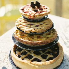 """Bridal shower goodies! Or better yet, surprise your groom and his men by having these pies waiting for them on the big day. This could backfire though... His friends might plan """"hang-outs"""" and spring events at your house?!"""