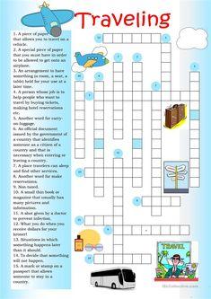 Crossword: Traveling worksheet - Free ESL printable worksheets made by teachers