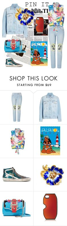THE BLUE IS VERY NICE. by m-kints on Polyvore featuring Alexander McQueen, Golden Goose, Paula Cademartori and Marc by Marc Jacobs