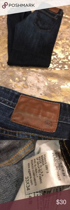 Men's AG jeans Size 33x34 men's jeans Ag Adriano Goldschmied Jeans Relaxed