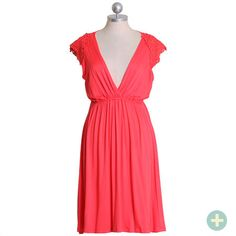 coral comfort curvy plus dress from shop ruche, $33.99