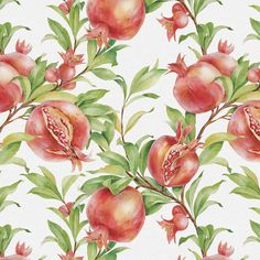 pomegranate pattern by Natalia Tyulkina, via Behance