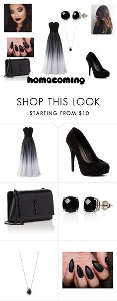 """""""Homecoming"""" by unknownuser-315 ❤ liked on Polyvore featuring Michael Antonio, Yves Saint Laurent and Belk & Co."""