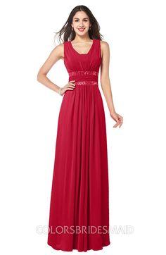 837096dd820 ColsBM Kelly Glamorous A-line Zip up Chiffon Sash Plus Size Bridesmaid  Dresses