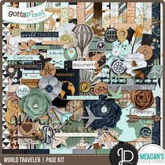 Designer Spotlight & Daily Download 9/18/16 - Gotta Pixel :: World Traveler | Kit by Meagan's Creations