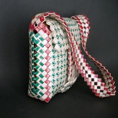 Vintage Prison Art Bag  Cigarette Wrapper Purse  by TheDeeps, $120.00
