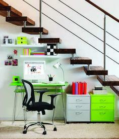 Optimizá espacios e inspirate en este ambiente para reacondicionar tu lugar de trabajo ;) #PequeñosEspacios #OptimizáEspacios #Oficina