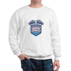 Made In America Eagle Patriotic Shield Retro Sweat