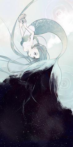 Mermaid of the Sky by Yucsi on DeviantArt