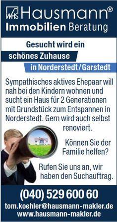 Aktuelle TOP Immobilien Angebote aus Hamburg, Norderstedt und Schleswig-Holstein › Hausmann Immobilien Makler und Beratung www.hausmann-makler.de