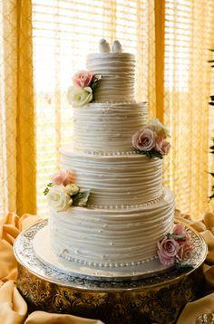 Romantic + Vintage wedding cake.