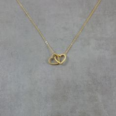 Double Heart Gold Necklace, Dainty Charm Fashion Pendant Two Twin Love, Gift Box Dual Lovely Trendy Jewelry Gold Mangalsutra Designs, Gold Earrings Designs, Gold Jewellery Design, Gold Jewelry Simple, Trendy Jewelry, Cute Jewelry, Heart Jewelry, Twin Love, Fashion Necklace