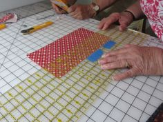 My Patchwork Quilt: Make cutting your strips or squares with a rotary cutter faster and easier....how to.