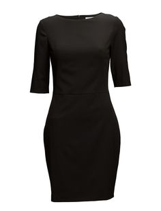 DAY - Tight Slight stretch Boat neckline Elbow length sleeves Fitted silhouette Classic Elegant Sophisticated Made from a high quality wool blend. Elegant Sophisticated, Dresses For Work, Formal Dresses, Wool Blend, Tights, High Neck Dress, Neckline, Sleeves, Boat