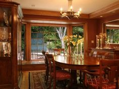 FORMAL DINING BAY WINDOW - Home and Garden Design Idea's