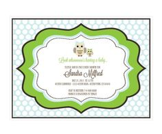 Blue Owl Invitations (pack of 16)
