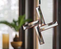 St. Brigids Cross Beveled Stained Glass SunCatcher - Irish - Druid - Celtic via Etsy