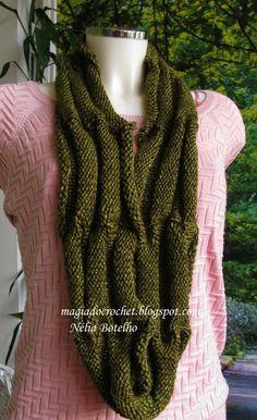 Magia do Crochet: Gola reversível em tricot