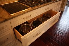 Deep Pan Drawer - traditional - kitchen cabinets - cleveland - Architectural Justice