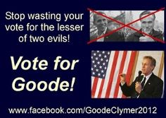 Vote For Virgil Goode, Constitution Party Presidental Nominee