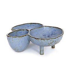 MARYAM RIAZI 3 medium bundle bowls in blue