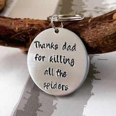 Fathers Day Gift - Gift for Dad - Funny keyring - Funny gift - Hand stamped key chain - Personalised Keyring