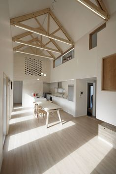 Sunlight House 빛이 쏟아지는 집 : 모던스타일 다이닝 룸 by AD MOBE Architectur