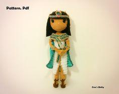 Pattern Cloé the Cleopatra EN-NL-FR by CrocsBetty on Etsy