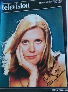 Autograph of Mary Denham (Margo Stewart):
