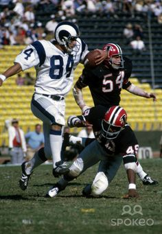 Jack Snow of the Rams runs after a catch vs. the Atlanta Falcons. They both should return to those uniforms!