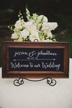 wedding sign for guest book table