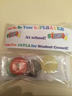 "DIY Student Council handouts ""Let me be your LifeSaver at School"""