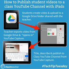 How to Publish student Videos to a Class YouTube Channel