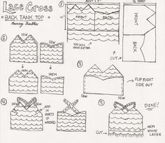 DIY lace cross back tank top - free pattern