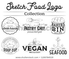 Find Sketched Food Logo Set stock images in HD and millions of other royalty-free stock photos, illustrations and vectors in the Shutterstock collection. Logo Food, Royalty Free Stock Photos, Logos, Logo