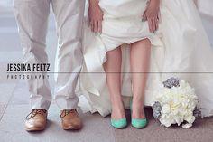 Downtown Indianapolis Wedding Photographer, Mavris Wedding Indianapolis, green wedding shoes, succulent bouquet, mint wedding shoes, mint nail polish