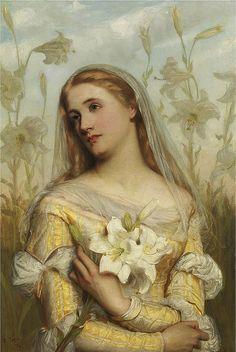 "Painting - ""Lilies"" Gustav Pope"