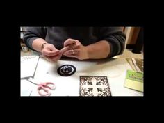 Card Making: Penny Slider Card Using Spellbinders Antique Corner (+playl...