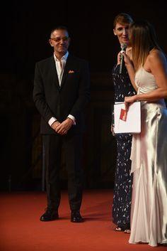 La testimonial Erika Alberti con lo stilista GIUSEPPE D'URSO
