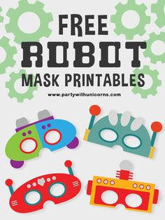 a robot party? These robot mask printables are a great way to get all of your party guests into the party sweet. They look great and are free! Girls Birthday Party Games, Birthday Activities, Activities For Kids, Girl Birthday, Printable Masks, Printable Crafts, Party Printables, Free Printable, Robot Mask