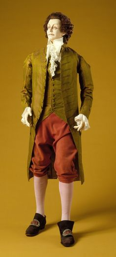 Man's Coat and Waistcoat | LACMA Collections Italy, 1760 Patterned silk a) Coat length: 44 in. (111.76 cm); b) Waistcoat length: 24 in. (60.96 cm)
