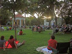 Concert in the Park  King William district San Antonio