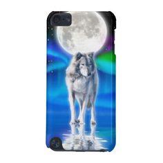 Grey Wolf & Aurora Wildlife Ipod Touch Case